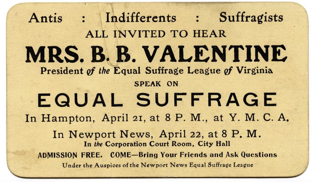 Woman Suffrage Lectures