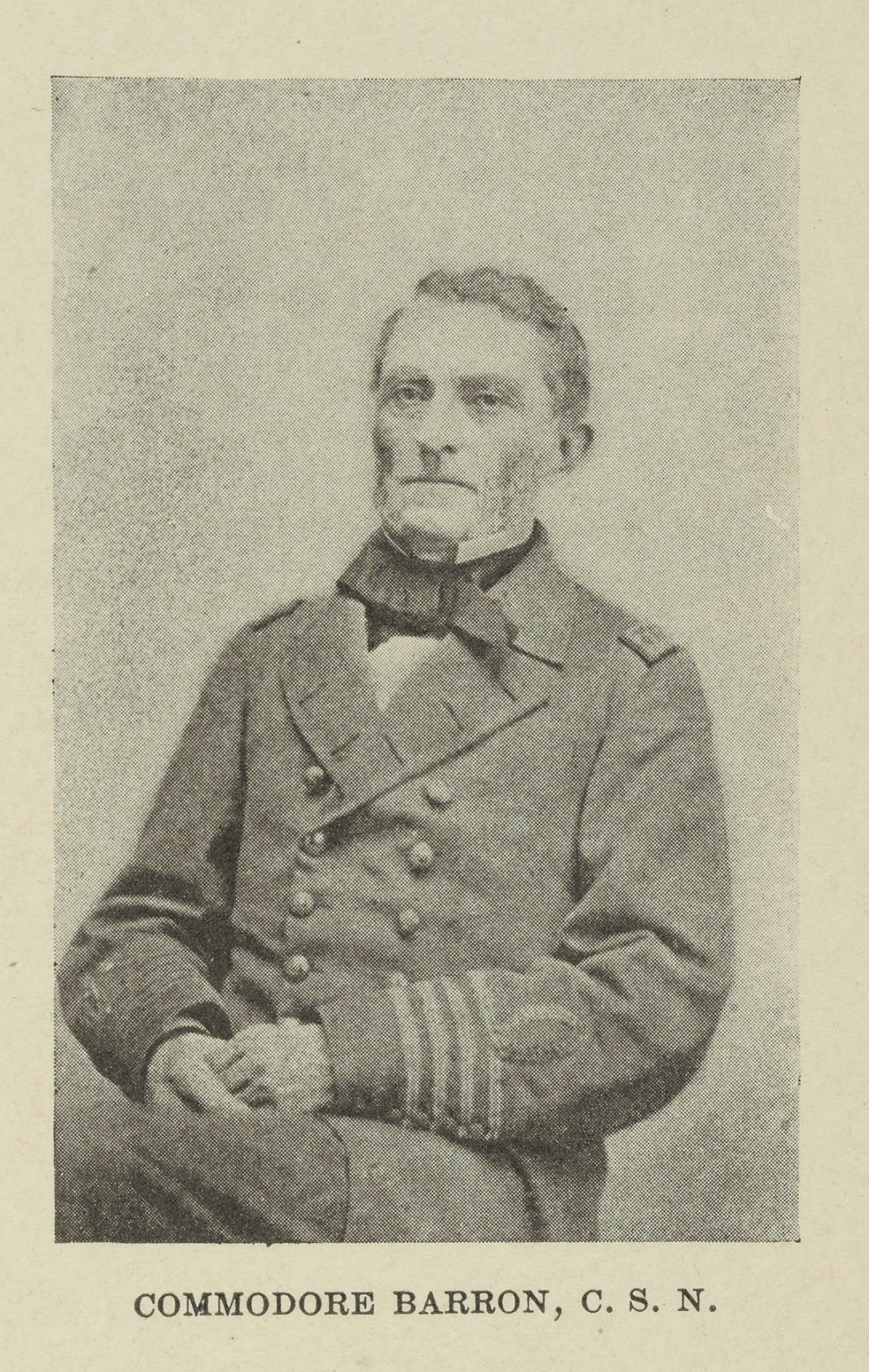 Commodore Samuel Barron of the Confederate States Navy