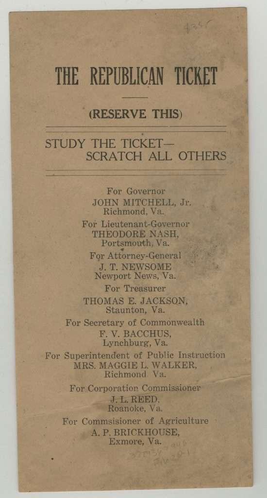 All-Black Republican Ticket of 1921