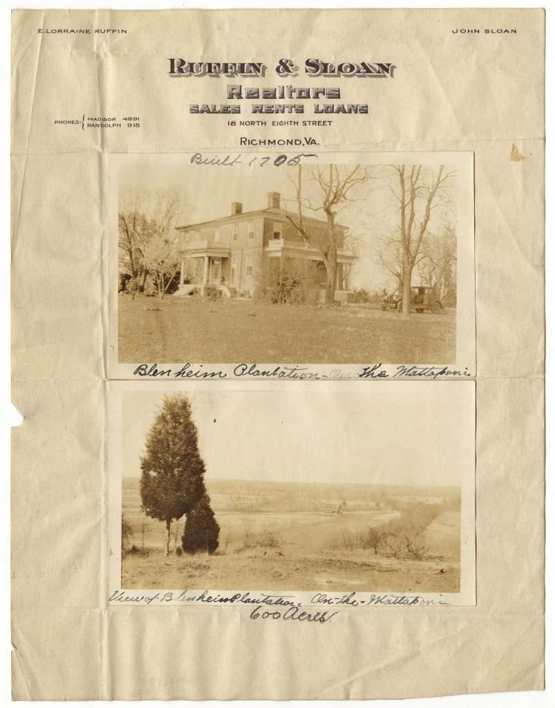 Blenheim Plantation