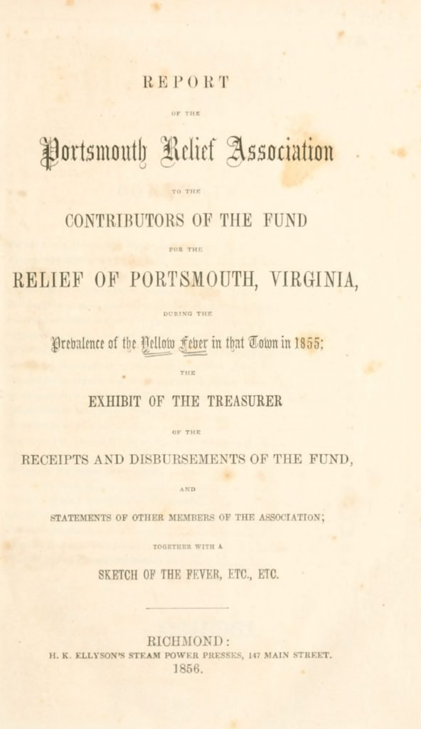 Report of the Portsmouth Relief Association