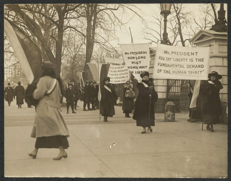 Protesting in Front of the White House