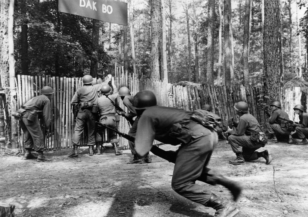 Fort Lee Soldiers Storm a Simulated Viet Cong Village