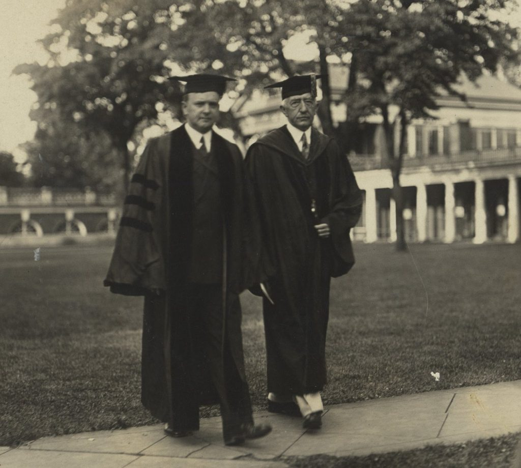 Harry Byrd and Edwin Alderman at the University of Virginia