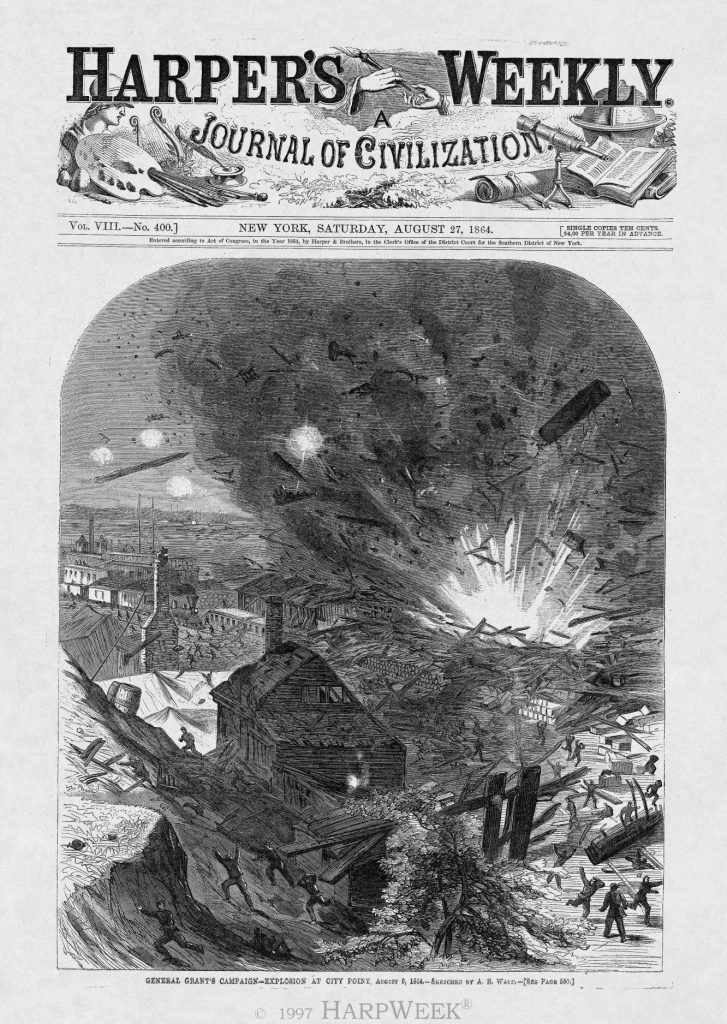 General Grant's Campaign — Explosion at City Point. August 9
