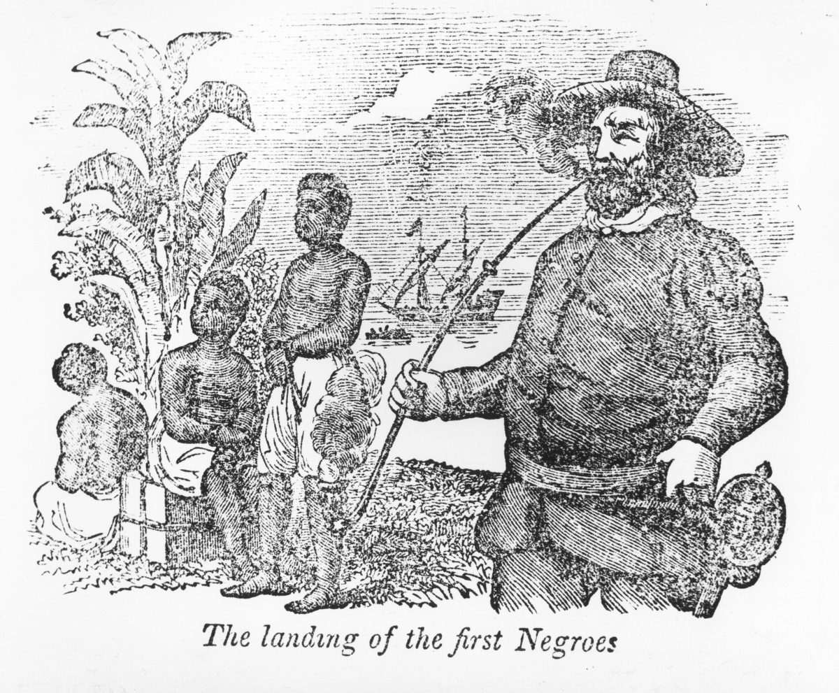 The landing of the first Negroes