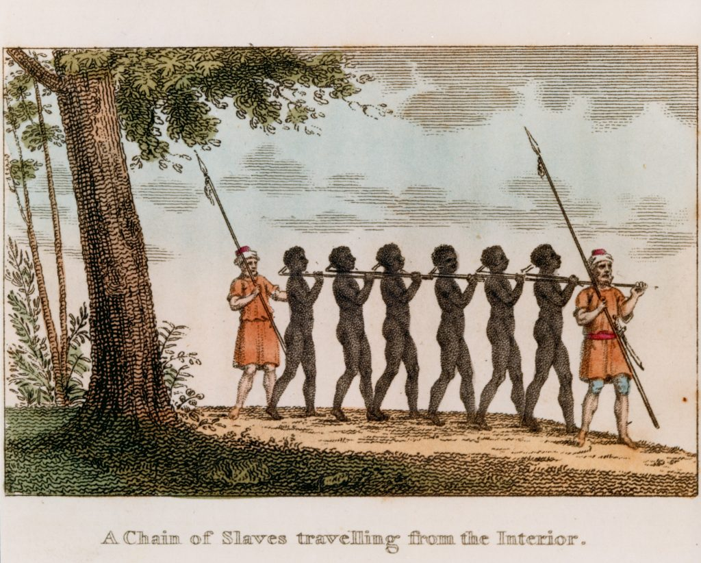 A Chain of Slaves travelling from the Interior.