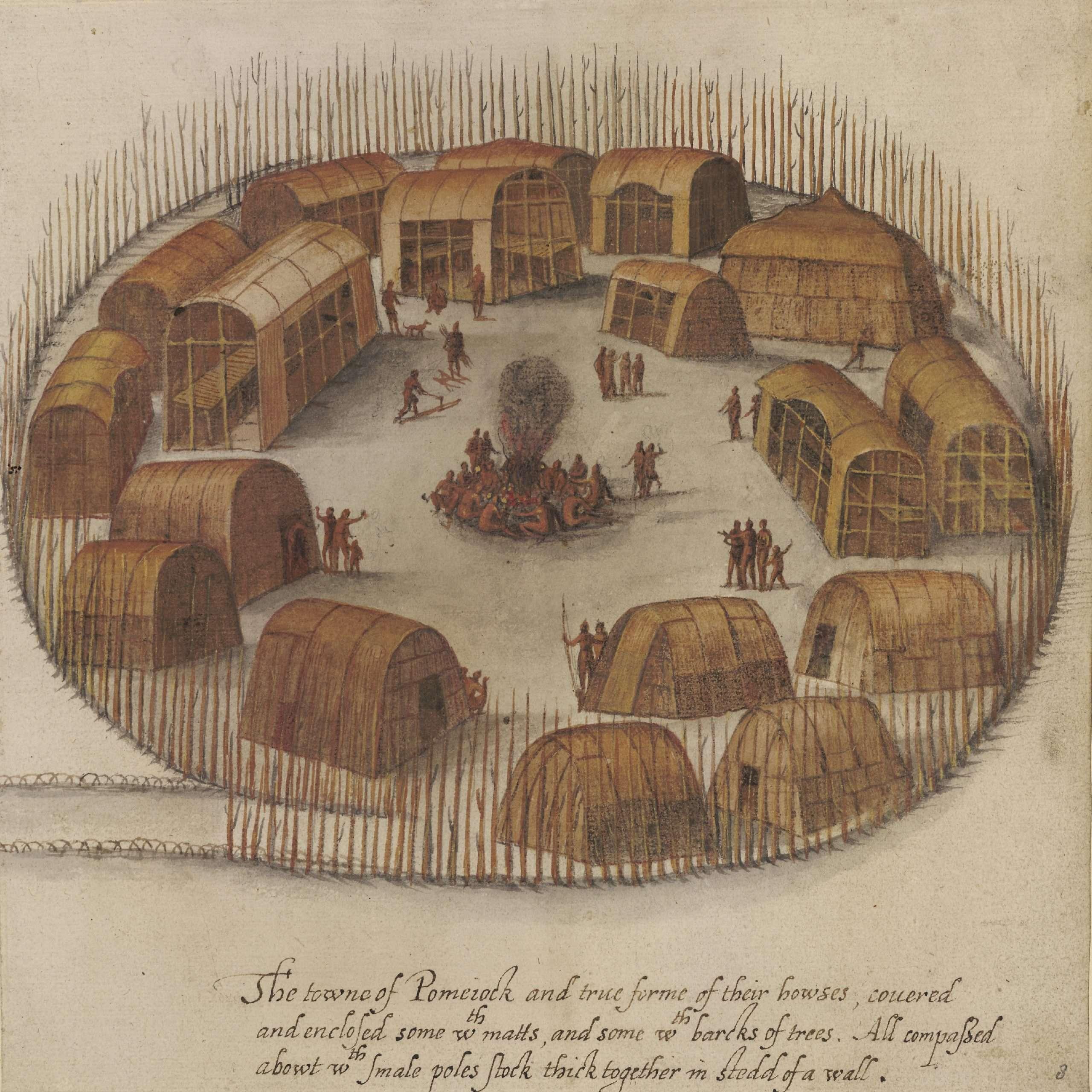 The towne of Pomeiock