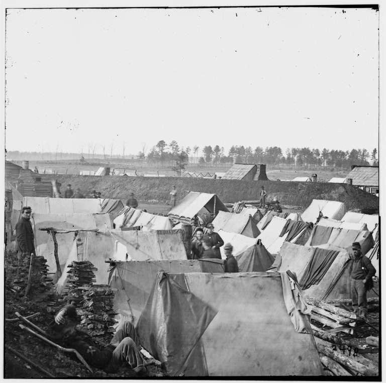 Soldiers' encampment
