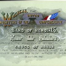 Tribute to the United Daughters of the Confederacy