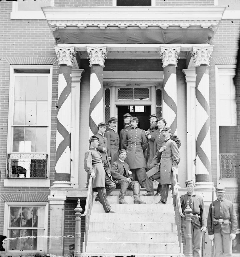 General Edward Ferrero and Staff