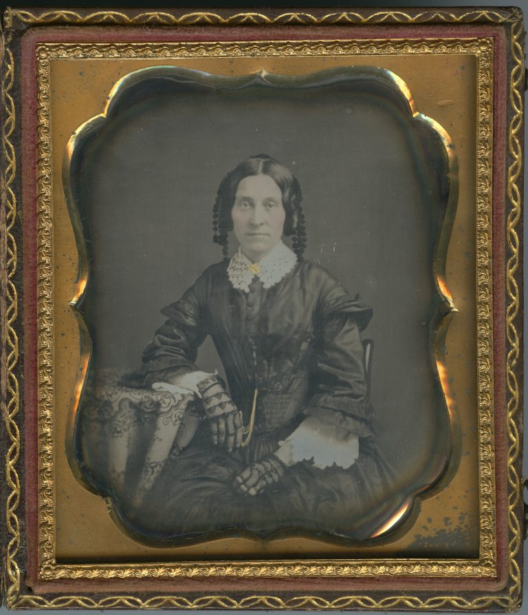 Unidentified woman in mourning