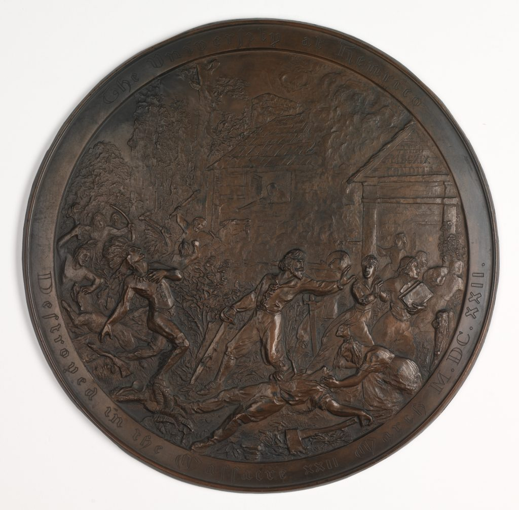 Medallion Commemorating the Indian Attacks of 1622