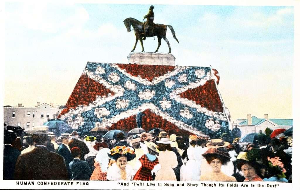 Human Confederate Flag Postcard