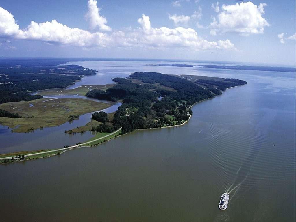 Aerial View of Jamestown