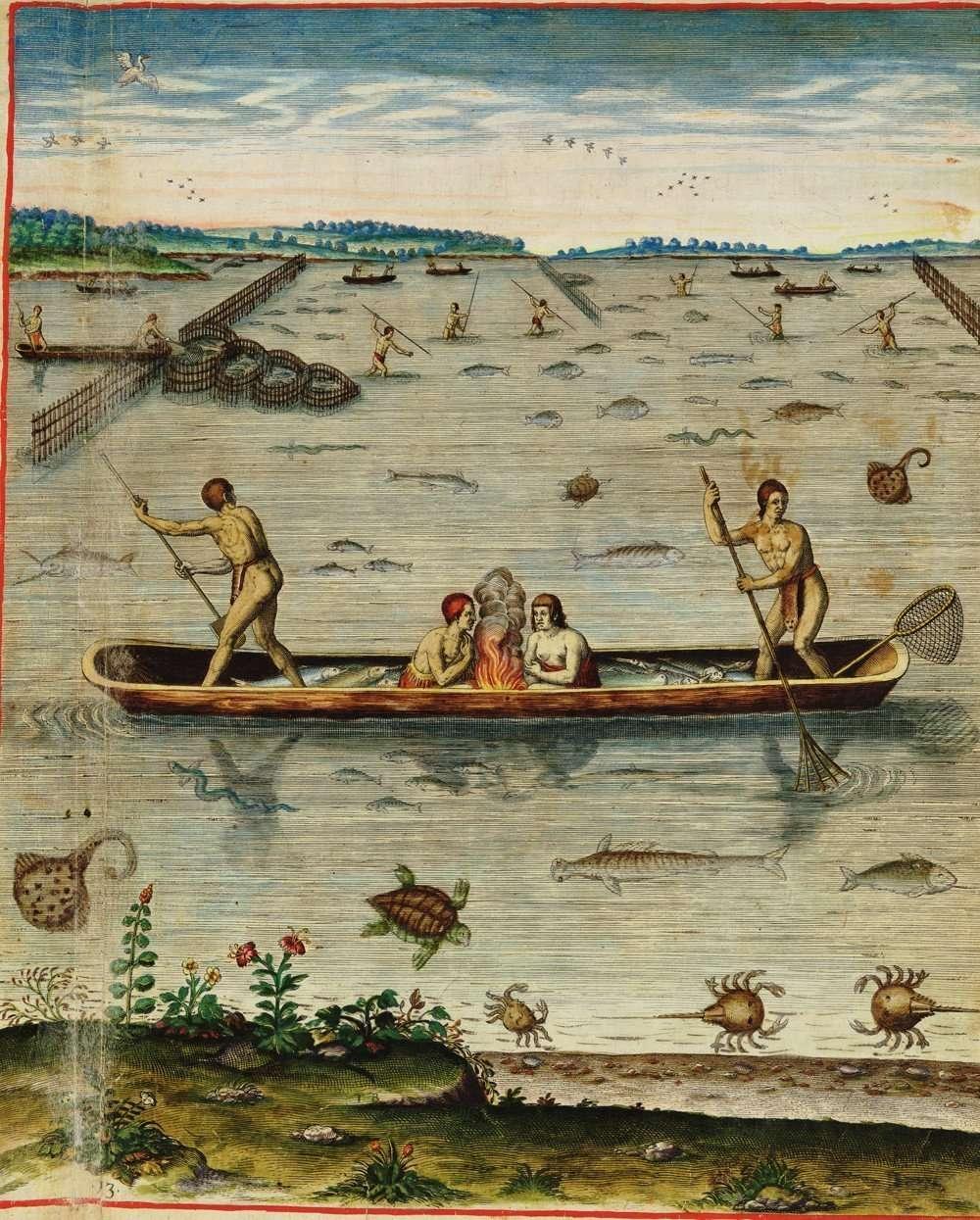 Incolarum Virginiae piscandi ratio (The Method of Fishing of the Inhabitants of Virginia)