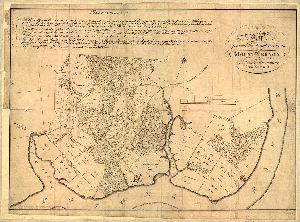 A Map of General Washington's Farm of Mount Vernon