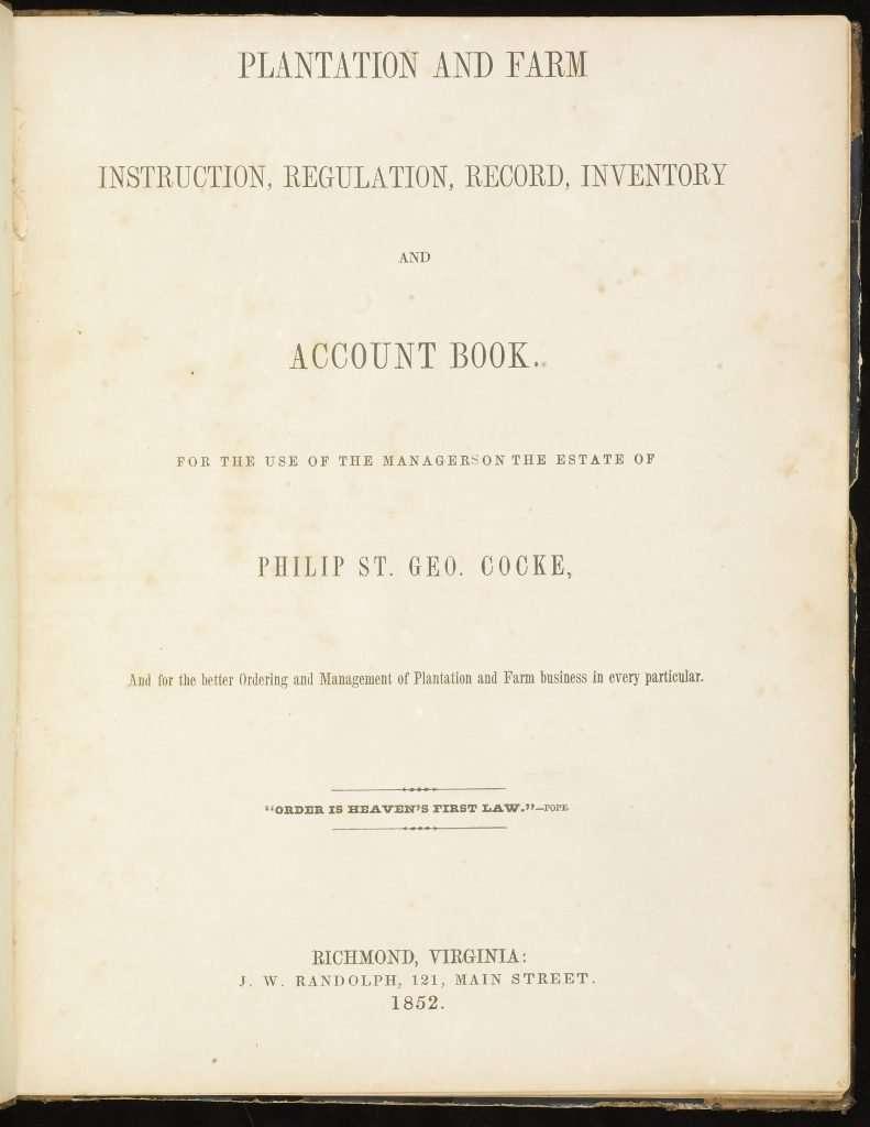 Plantation and Farm Instruction