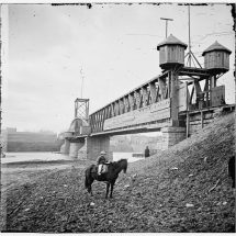 Fortified railroad bridge