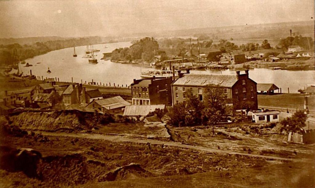 View of Rocketts and the James River from Libby Hill