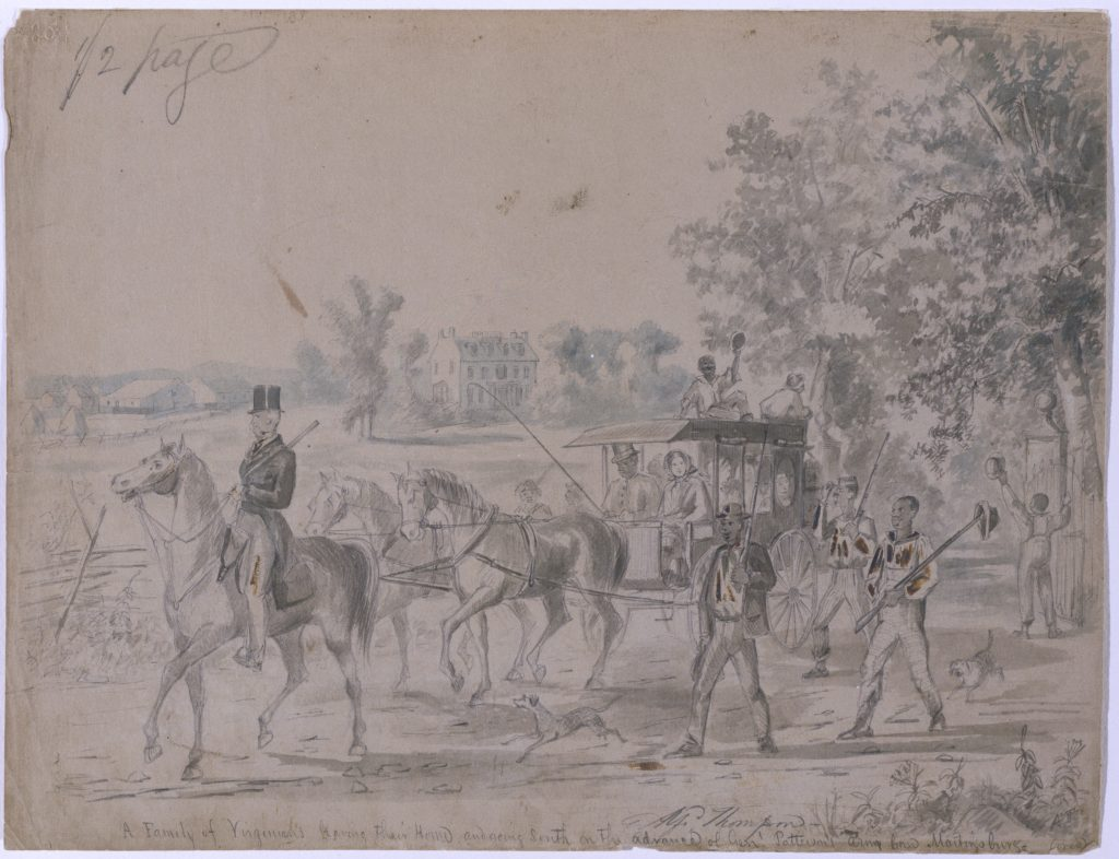 A Family of Virginians leaving their Home and going South on the advance of Genl. Patterson's army from Martinsburg