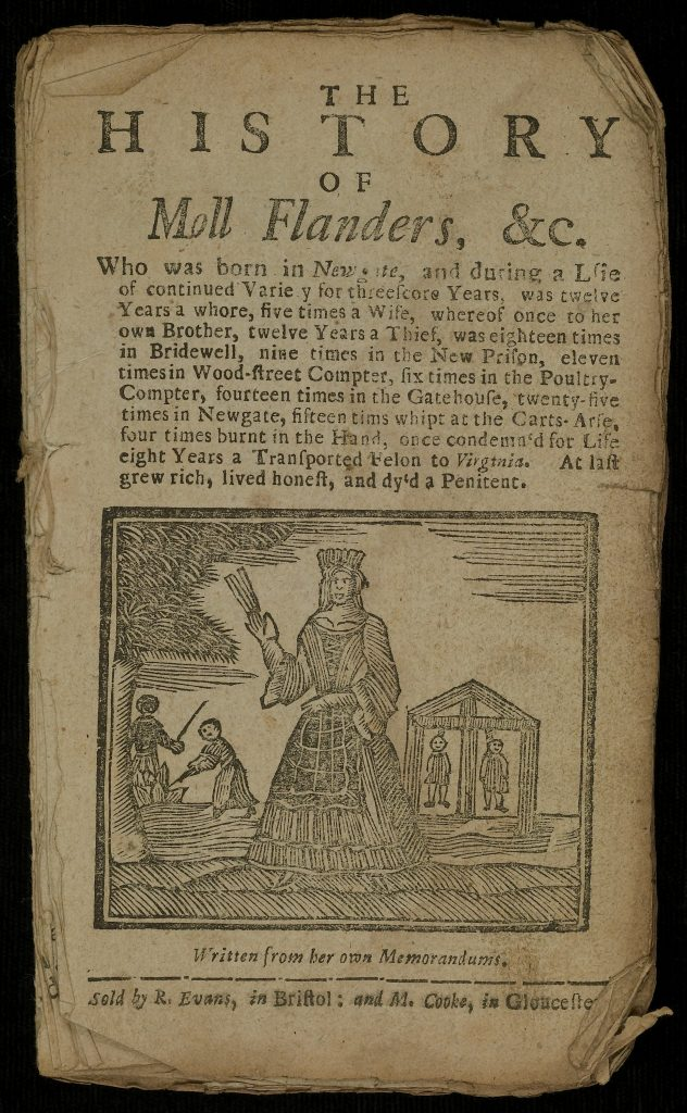 Title Page of The History of Moll Flanders