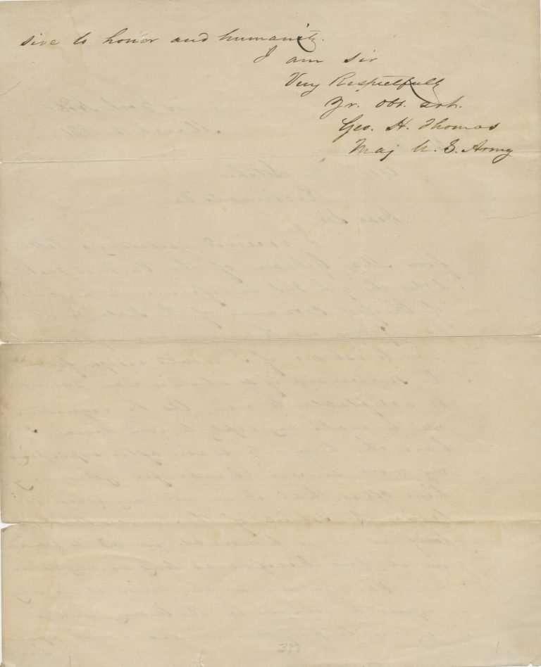 George Thomas Declining Post