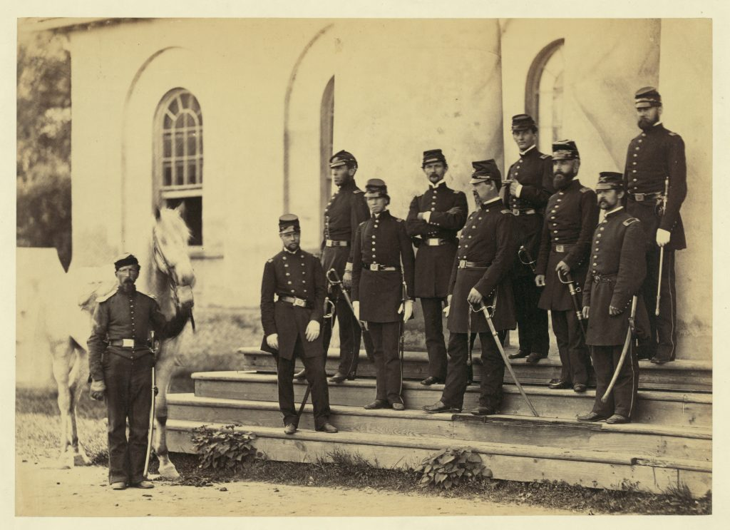 General Irvin McDowell and Staff Officers