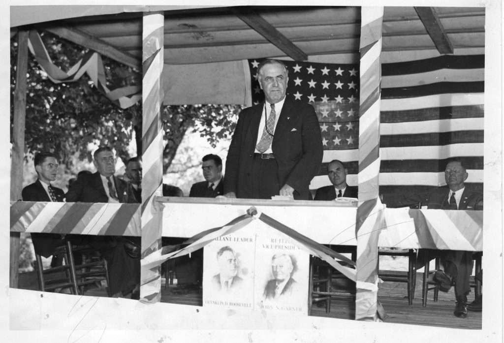 E. Lee Trinkle Supports Franklin D. Roosevelt