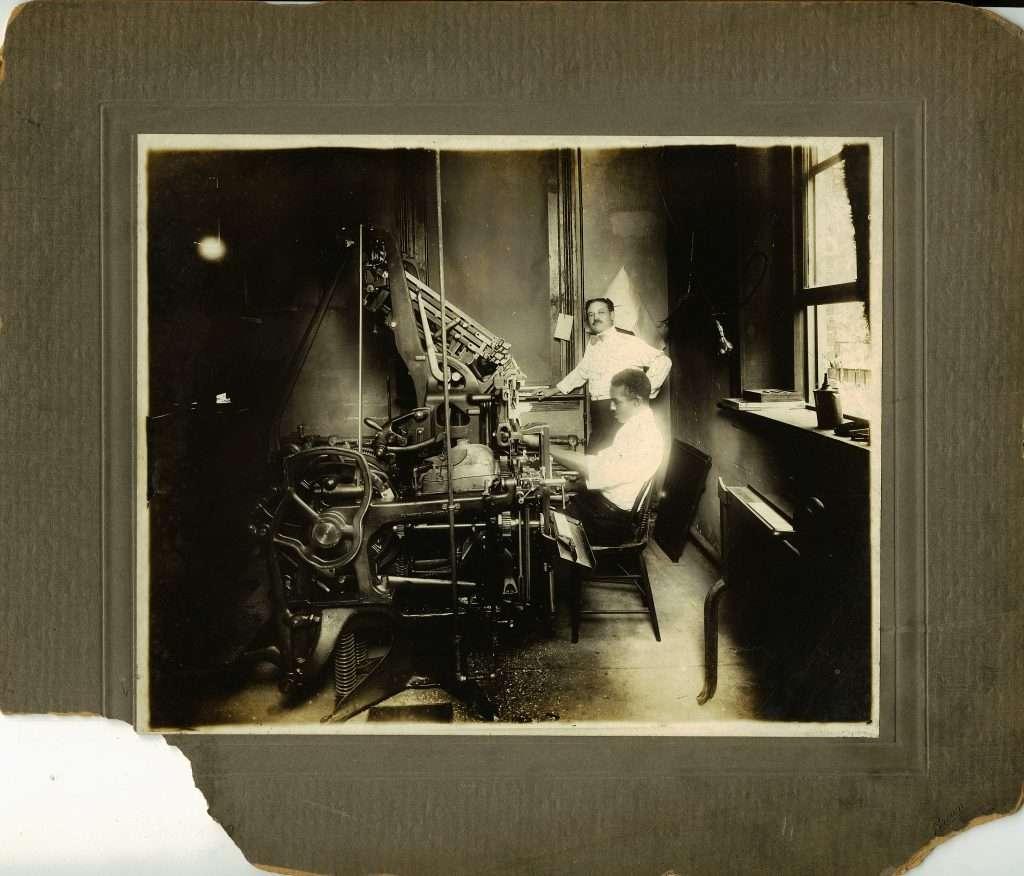 Printing Press for the St. Luke Herald