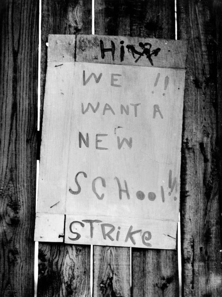 Protest Sign at Robert Russa Moton High School