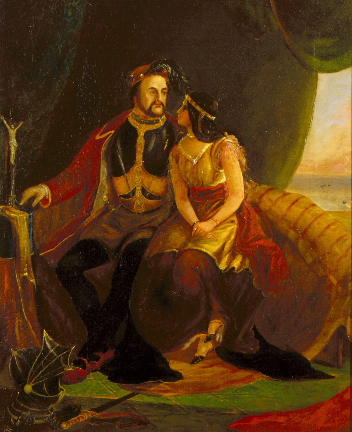 John Rolfe and Pocahontas