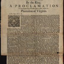Royal Proclamation Concerning Bacon's Rebellion