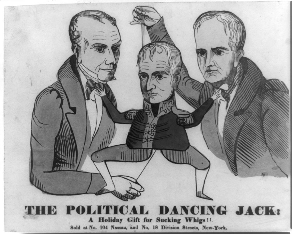 Anti-Whig Party Political Cartoon