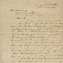 Major George Thomas Declines Post