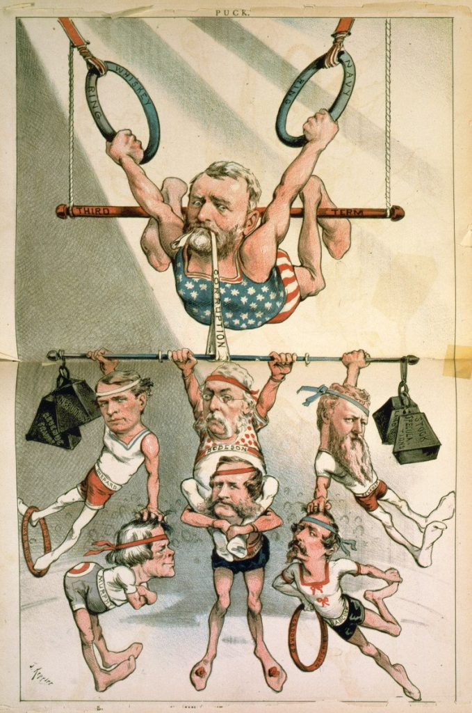 Political Cartoon Critiquing Corruption in Grant's Presidency