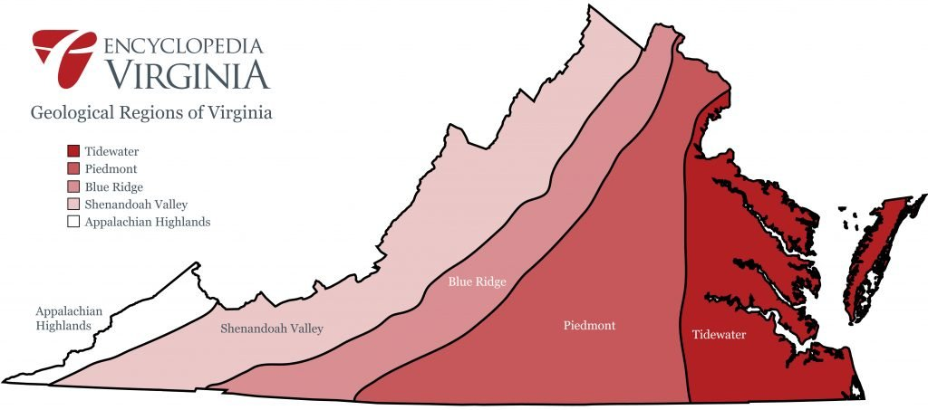 Geological Regions of Virginia