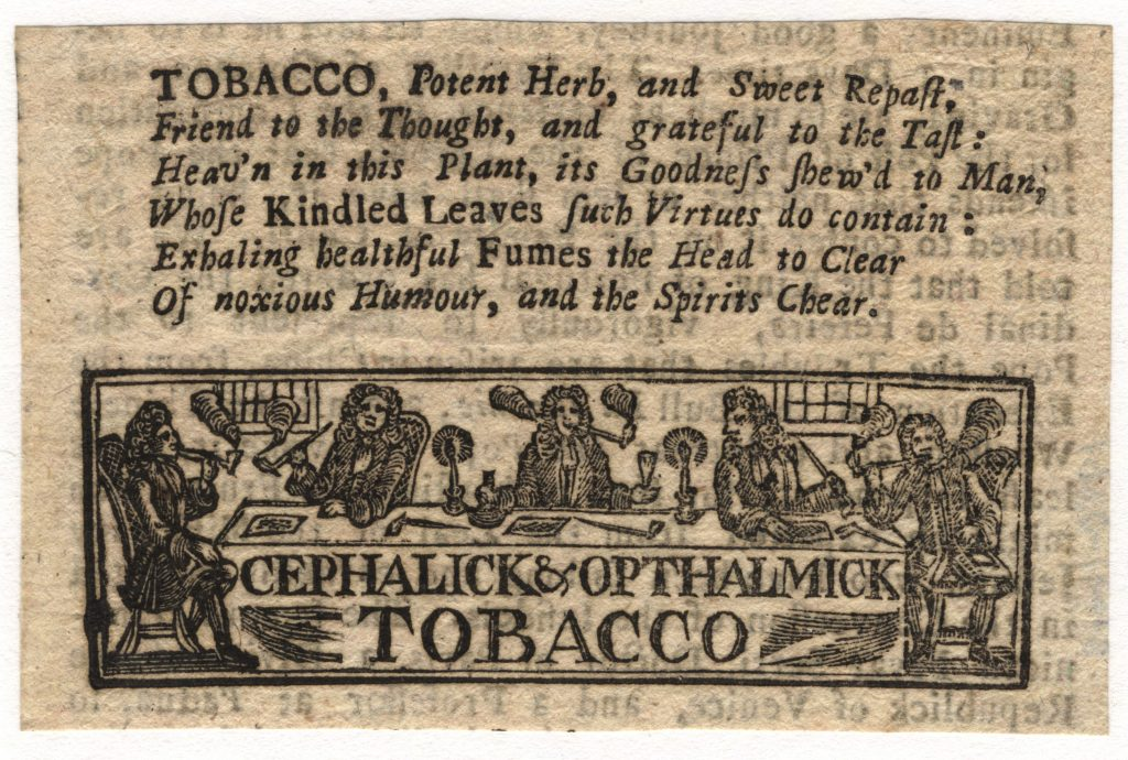 Eighteenth-Century Tobacco Advertisement
