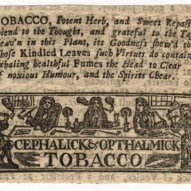 Eighteenth-Century Tobacco Advertisement