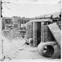 Confederate Fortifications Outside Petersburg