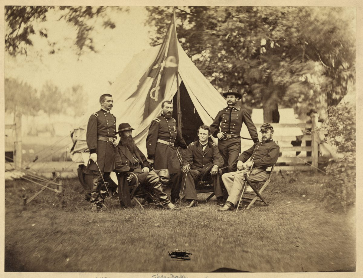 General Philip H. Sheridan and Staff