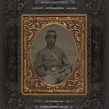 African American in Cavalry Uniform