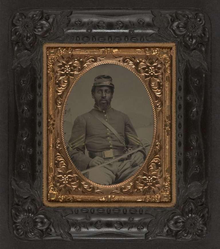 African American in Cavalry Uniform