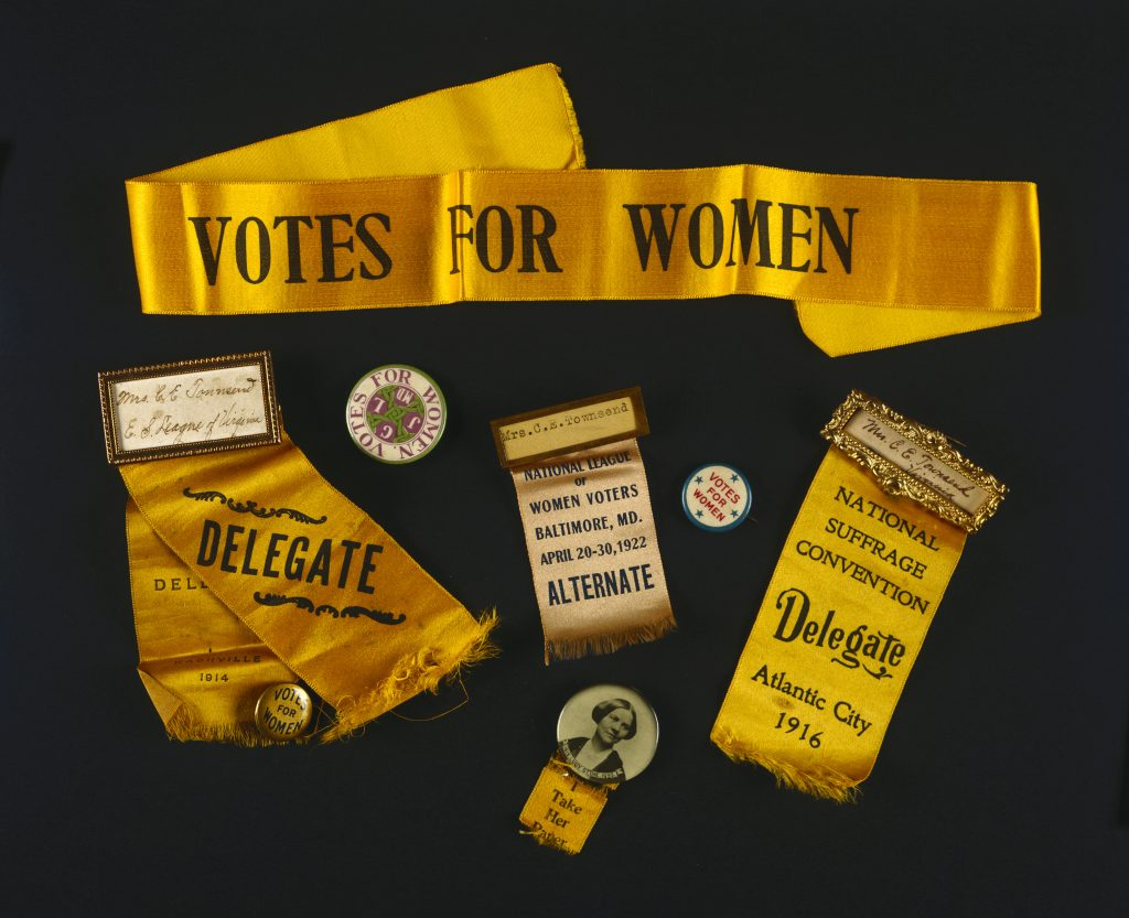 Equal Suffrage League of Virginia Memorabilia
