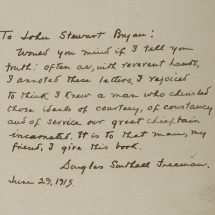 Inscription by Douglas Southall Freeman