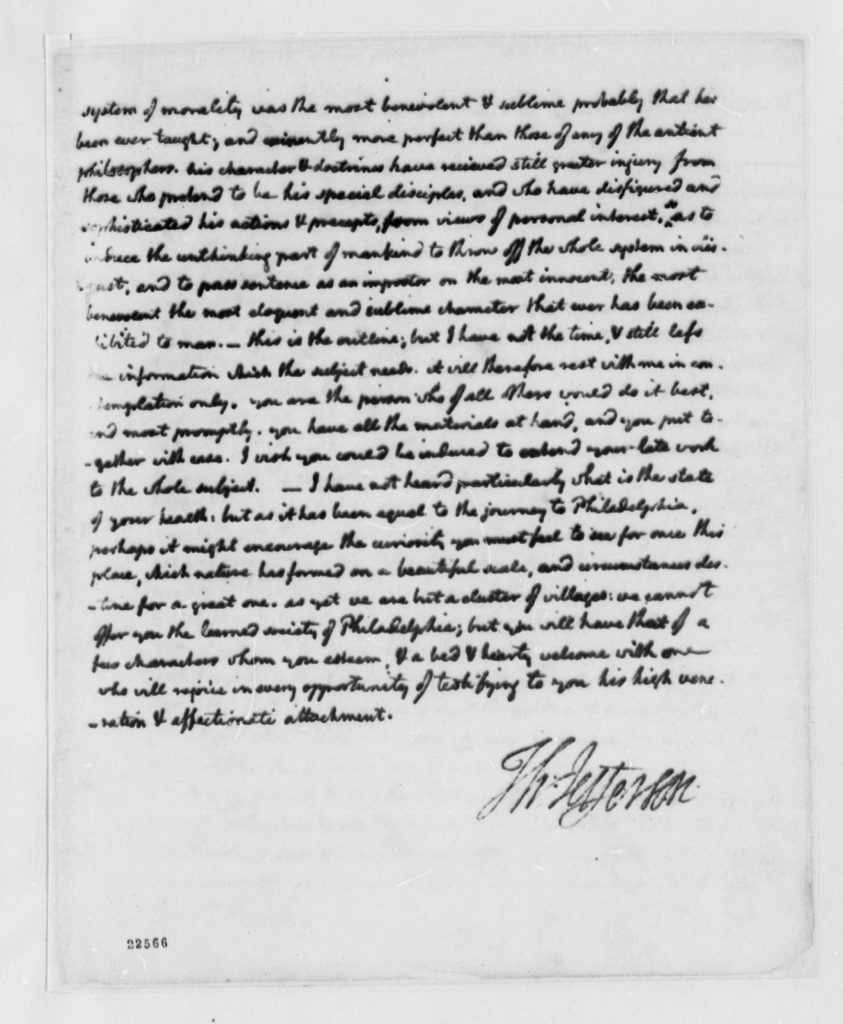 Letter from Thomas Jefferson to Dr. Joseph Priestley (April 9
