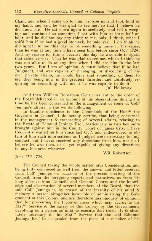 Executive Journals of the Council of Colonial Virginia