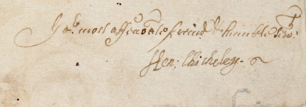 Sir Henry Chicheley's signature
