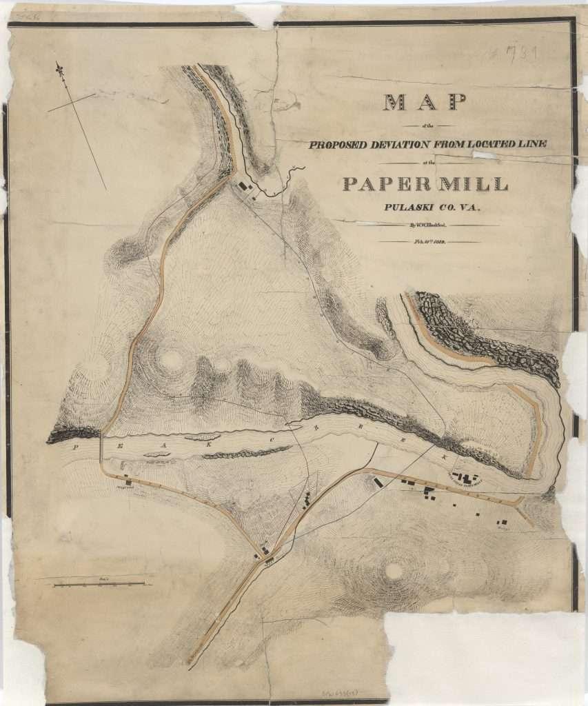 Railroad Survey Map for Pulaski County