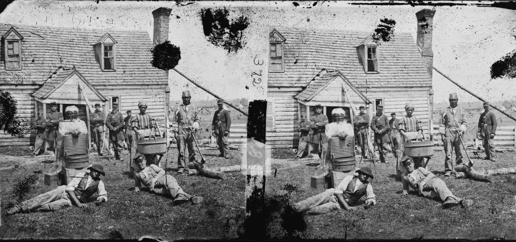 Escaped Slaves Working for Wages